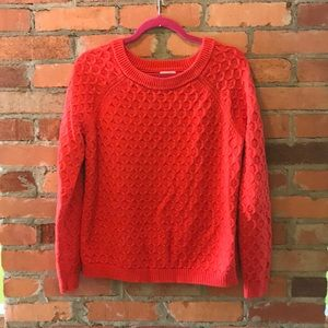 Red cotton sweater